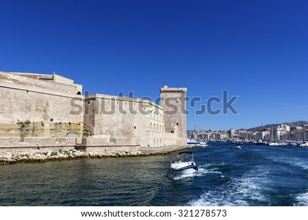 View on Fort Saint-Jean in Marseilles in France