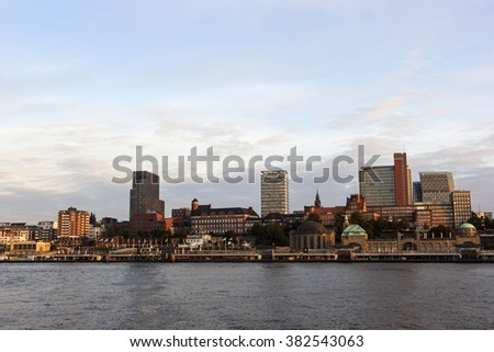 View on Hamburg in Germany