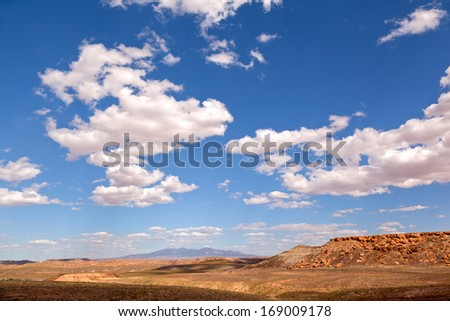 View on Highway in fall all around Durango - stock photo