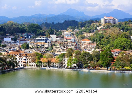 View on Kandy City, Sri Lanka - stock photo