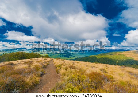 View on Kepler track in New Zealand - stock photo