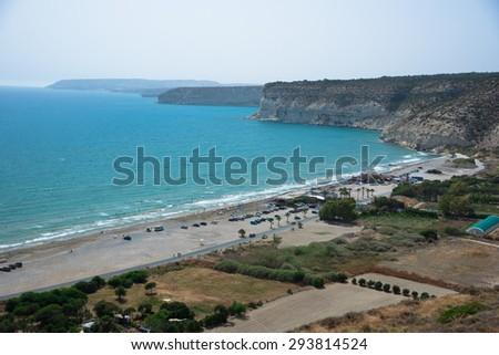 View on Kourion Beach, Cyprus - stock photo