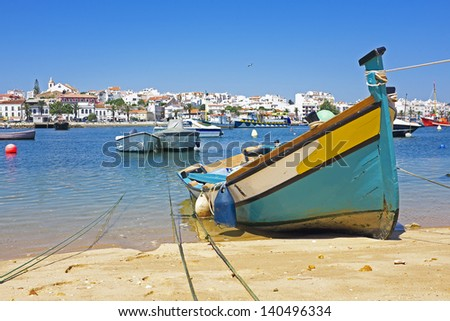 View on Lagos in Portugal - stock photo