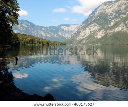 view on lake Bohinj, Slovenia