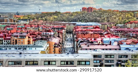 View on Linnegatan, Gothenburg - stock photo