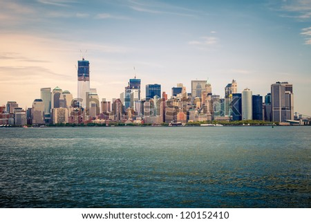 View on Manhattan from Hudson river