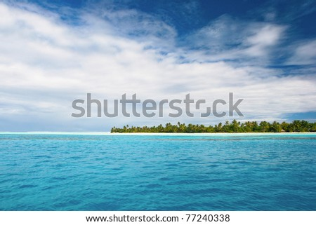 View on Maupiti, French Polynesia