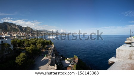 View on Monaco Bay - stock photo