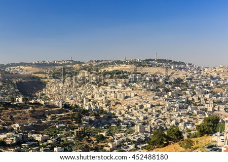 View on Mount of Olives in Jerusalem - stock photo