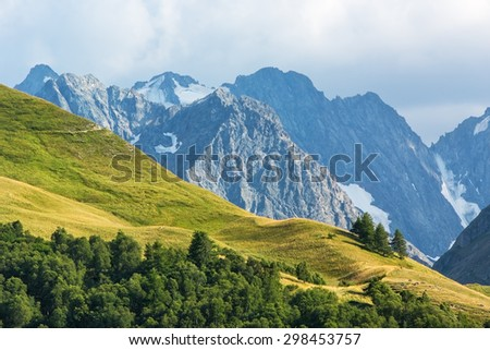 View on mountains in Ecrins national park,France