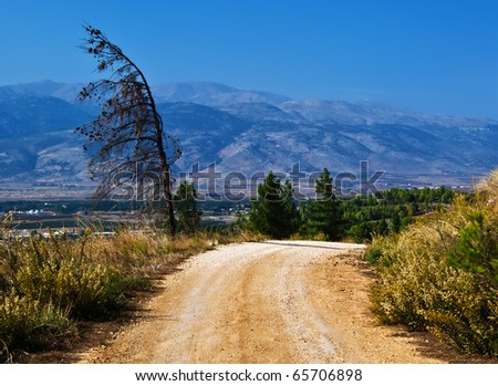 view on mountains in the north of Israel