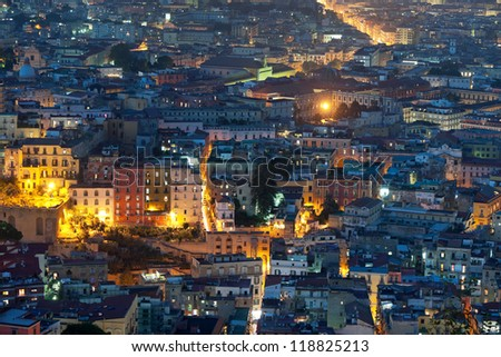 View on Naples at night.