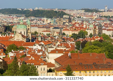 View on panorama of Prague,Czech republic - stock photo