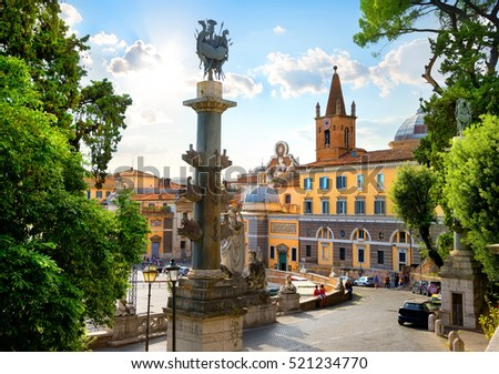 View on Piazza del Popolo in Rome, Italy