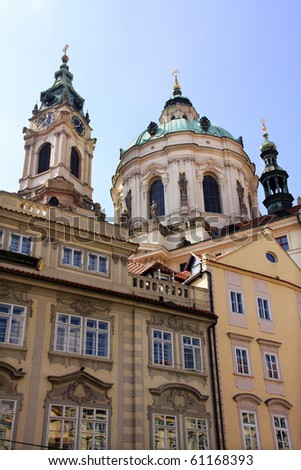 View on Prague St. Nicholas' Cathedral