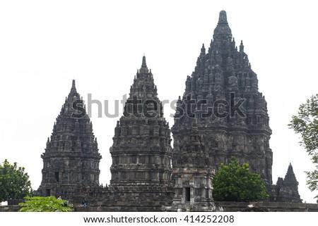 View on Prambanan temple - stock photo