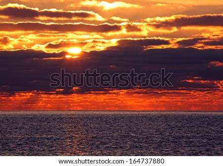 view on sunrise in sea