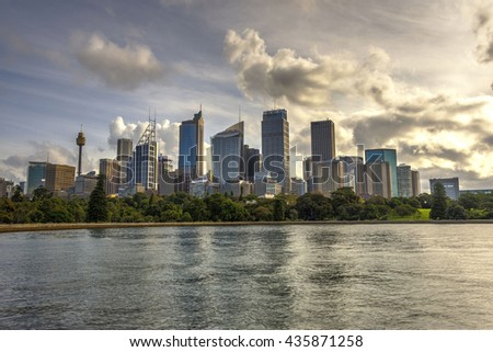 View on Sydney skyline in daytime, HDR photo - stock photo