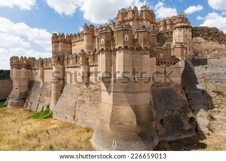 View on the castle of Coca, Segovia, Spain