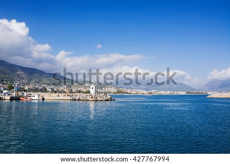View on the coastal zone. Turkey Alanya