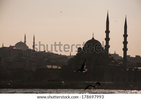 view on the European shore of Istanbul