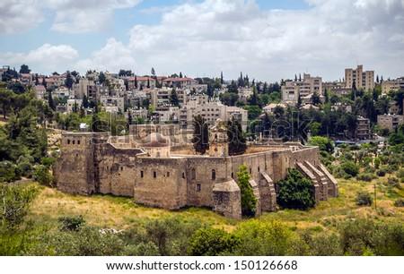 View on the Georgian Monastery of the Cross, Jerusalem - stock photo