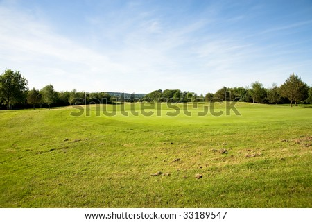 View on the golf course in a sunny day. - stock photo