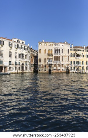 View on the Grand Canal, Venice Italy