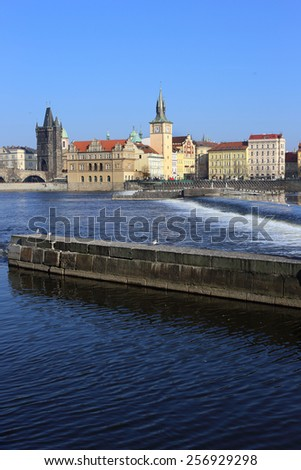 View on the Prague Old Town, Czech Republic - stock photo