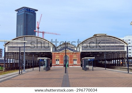View on the railway station Hollands Spoor of The Hague in the Netherlands - stock photo