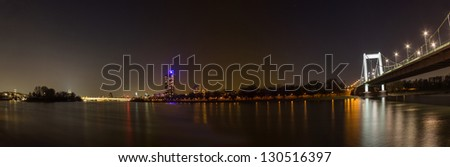 view on the rhein and cologne from near the m���¼hlheim bridge