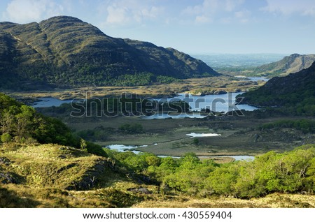 View on the Ring of Kerry, Ireland  - stock photo