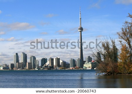 View on Toronto from the lake