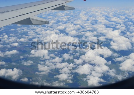 View out the window of a plane