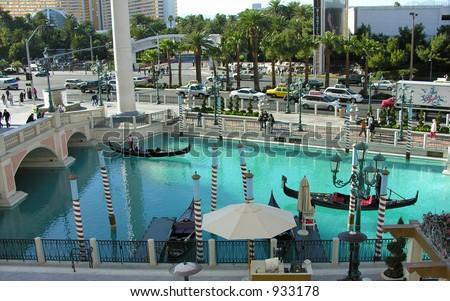 View outside the Venetian Hotel in Las Vegas - stock photo