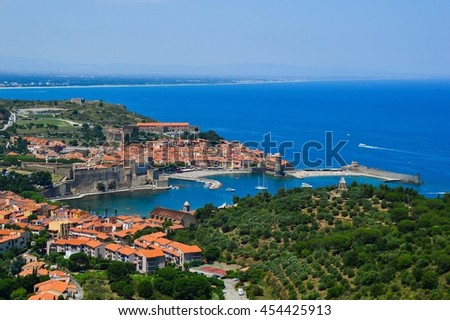 View over Collioure, France