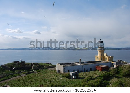 View over Inchkeith - stock photo