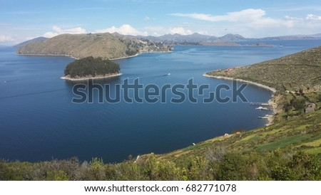 View over Lake Titicaca, Bolivia
