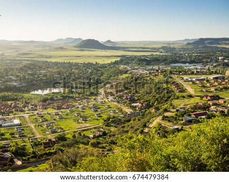 Lesotho stock images royalty free images vectors shutterstock view over maseru the capital of lesotho sciox Images