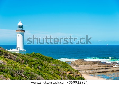 View over Norah Head lighthouse, Australia