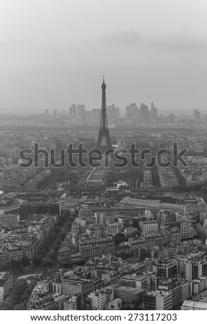 View over Paris from the Montparnasse Tower