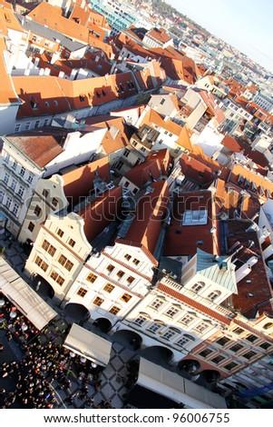 View over Prague, Czech republic, Europe. - stock photo