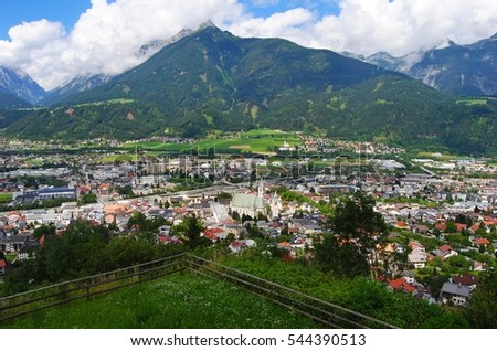 View over Schwaz, Austria. What is now a sleepy little town was once Austria's second largest city after Vienna.