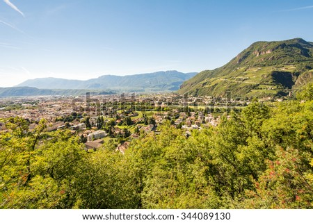 View over the city of Bolzano (Sout Tyrol, Italy)