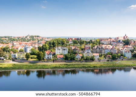 View over the city of Meissen (Saxony, Germany)