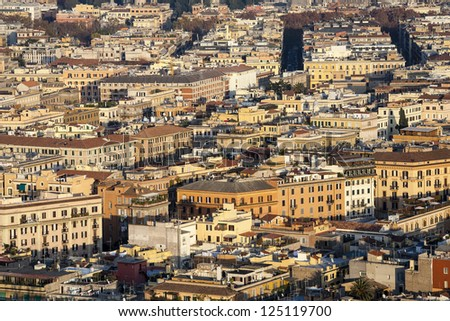 View over the city of Rome - stock photo