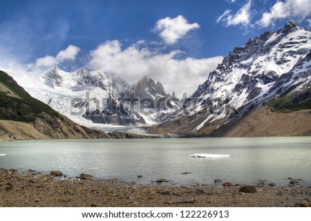 View over the glacier lake of El Chalten, Argentina