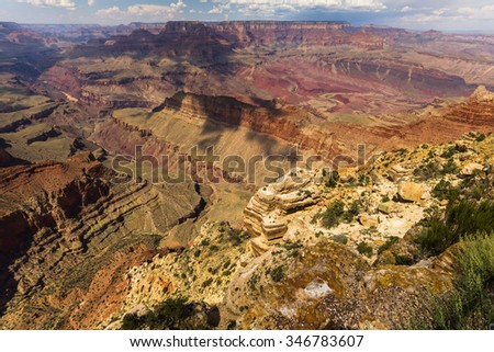 View over the Grand Canyon landscape, Arizona, USA