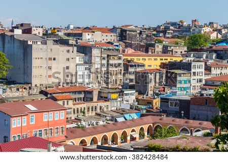 View over the rooftops of Istanbul, Turkey