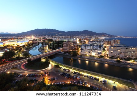 View over the town Fuengirola. Costa del Sol, Andalusia Spain - stock photo